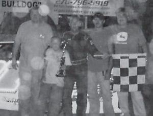 TIM MASON brought in another win in the Bomber Division at Mountain Motor Speedway. (Photo by Jodie Smallwood)