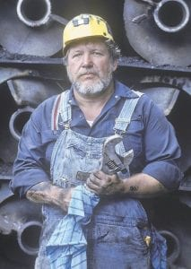 This 1987 file photo shows former United Mine Workers of America President Sam Church as he posed for a photo after leaving office as the UMWA president. Church died Tuesday at age 72. (AP Photo/The Bristol Herald-Courier)