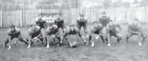 WHS FOOTBALL — Members of the 1940-41 Whitesburg High School football ball included (above, left to right, front row) Morrell Pendleton, Spencer Harris, Dale Mullins, John D. Sergent, Carol Hogg, Darius Auxier, David Roe Fields, (back row) Paul Little, Jack Little, Dee Dawahare, and James Thornsberry. Also on the team were (below, left to right, front row) John Edwards, Wid Banks, Cecil Caudill, Jack Hall, Joe Tom Mullins, Gleason Maggard, Harlan Morton, (back row) Ben Keith Jr., Bryce Franklin, Keithel Reynolds, and Paul Pigman.