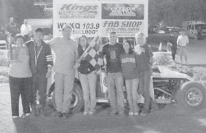 OPEN WHEEL — Rick Clark in the #12 had a 1st place finish in the open wheel feature Friday night. (Picture by Jayson Boyd)