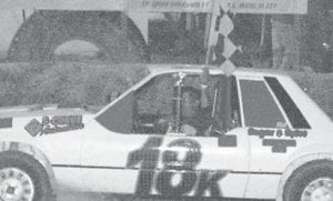 DRIVING THE 18k CAR, DI Henson was the 4 cylinder stock winner at Mountain Motor Speedway.(Picture by Jodie Smallwood)