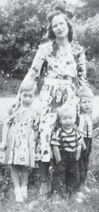 ADAMS FAMILY — Pictured are the wife and children of the late Earl Adams of Isom.