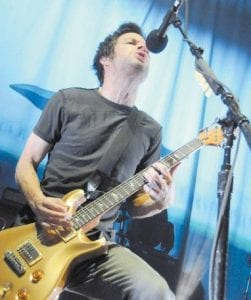 Lead singer Pete Loeffler rocked with his band Chevelle in Pikeville last week.