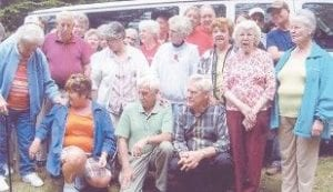 ON A PICNIC — Members of the Ermine Senior Citizens Center went on a picnic last week at Kingdom Come State Park.