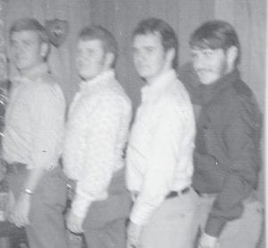 HATTON BOYS — The four sons of Oma and Clyde Hatton are pictured in this photograph taken on Christmas of 1971. From left to right are Robert Hatton, Astor Hatton, Billy Hatton, and Larry Hatton.