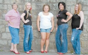 MOUNTAIN OUTREACH IDOL will be held Thursday through Saturday, August 13-15, at the Riverside Days festival in Whitesburg. Contestants are (left to right) Joyce Wagner of Mayking, Nicole Pennington of Pikeville, Anessa Gibson of Pound, Va., Chantal Toler of Jackhorn, and Heather Johnson of McRoberts. The winner will be chosen by the audience. For more information, visit www.riversidedays.com or www.myspace.com/riversidedays.