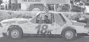 IN THE 4 CYLINDER STOCK DIVISION, D.I. Henson, driver of the 18k, worked his way up to the front to capture the checkered flag at Mountain Motor Speedway.