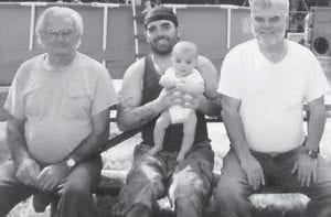 FOUR GENERATIONS — Pictured are four generations of the Roberts family of Cowan Jack Roberts, Eddy Jack Roberts, Sid Roberts, and James Roberts.