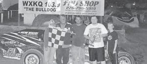 OPEN-WHEEL — Mike Howard in the 41 car was the winner in the Open Wheel feature Friday night. (Photo by Jodie Smallwood)