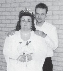 MARRIED — Louis Christopher Hampton and Anna Marie Sizemore were married February 14 at Calvary Temple Church. The bridegroom is the son of Louis and Sandra Hampton of Jenkins. The bride is the daughter of Junior and Shirley Sizemore of Sandlick.