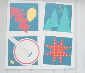 This barn quilt square, painted by Ked Sanders and Bessie Shepherd, appears at Mountain Heritage Village in Whitesburg.