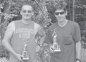 THIRD PLACE — John Adams and Jamie Mitchell came in third in the Isom Days horseshoe tournament.