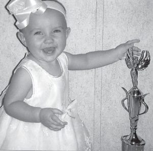 WINNER — Jacelyn Noelle Hatton was the winner of the Little Miss Mountain Heritage Pageant in the 7-12 months age division. She is the daughter of Deran and Ashley Hatton of Whitesburg, and the granddaughter of Buddy and Billie Hatton of Thornton and Thurman and Deranda Wyatt of Cromona.