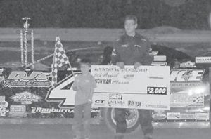 IRON MAN — Driving car #41, Josh McGuire was the winner of the fifth annual Iron Man Classic on Friday. (Photo by Jodie Smallwood)