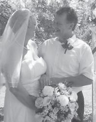 MARRIED — Deloras Tucker and Wendell Kerr were married September 12 at their home in Pike County. The bride is the daughter of the late Ray and Dorthy Tucker of Payne Gap. The bridegroom is the son of Olive and the Rev. Jimmy Kerr of Lickcreek.