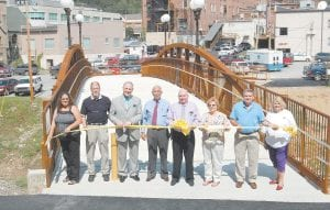 A ribbon-cutting ceremony for the James W. Bates Bridge was held Sept. 23. The bridge is named after Whitesburg City Council Member Jimmy Bates, a Vietnam veteran and past state commander of the Veterans of Foreign Wars (VFW) organization.