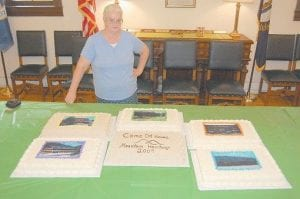 Abbie Wynn, of Racetrack Hollow in Isom, made cakes for the Whitesburg Day dedication events on Sept. 23. Each cake was a different flavor and was decorated with scenes of downtown Whitesburg including Whitesburg City Hall, the Letcher County Health Department, the James W. Bates Bridge, the Letcher County Courthouse and the Harry M. Caudill Memorial Library.