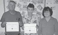 HONORED — Trenda Kincer, director of the Letcher County Senior Centers, presented six employees with certificates in appreciate of their services during September, which is Older American Month. For left to right are Russell Akers, Francais Dixon and Trenda Kincer. Not pictured are Sara Dunlap, Barbara Huff, Wilma Hampton, and Judy Chilcote.