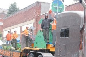 Members of the newly-formed Pine Mountain Search and Rescue team designed a float showing ways their services are needed in Letcher County.
