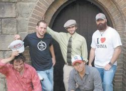 Folk Soul Revival, a popular band from Wise County, Va., will open for Worry Beads Saturday night at Summit City. The band posed for this publicity shot in front of the Graham Memorial Presbyterian Church in Whitesburg.