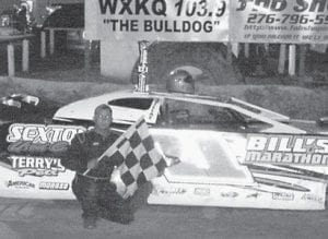 WINNER — Oscar McCown came from the back of the pack Friday night, making an impressive pass to bring the #11 team its fourth victory at Mountain Motor Speedway this year. Other winners for the night include Cody Taylor in car #5 in the Bomber division; Jimmy Collins in car #0 in the Modified division; and D.I. Henson in car #18k in the 4-Cylinder division.