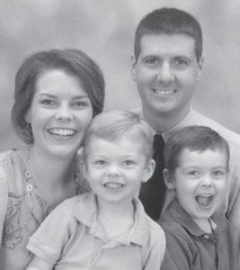 FAMILY PORTRAIT — Dr. Kevin Hatton is pictured with his wife Adrienne and their two sons, Will and Loren.