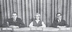 KLASSROOM KWIZ — James Caudill, Kyleen Campbell, and Charles Ward participated in a TV show in Bristol, TN.
