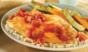 Fish Fillets With Pineapple Mango Salsa