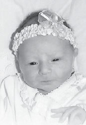 ONE MONTH OLD — Brylee DaySha Austin was born Sept. 15 at Norton Community Hospital in Norton, Va. She is the daughter of Kevin and Crystal Austin of Jackhorn. Her grandparents are Jeff and Bobbie Seals of Jackhorn, and Franklin