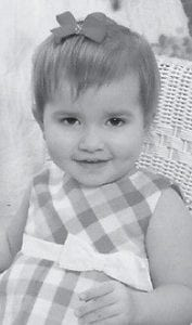 TURNING TWO — Alexis Grace Mullins will celebrate her second birthday on Oct. 25. She is the daughter of Emily Bevins and Justin Mullins of Payne Gap. Her grandparents are Patsy and George Bevins of Jenkins, and Karen and Marty Mullins of Whitesburg. She is the great-granddaughter of Louanna Adkins of Jenkins.