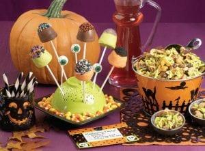 B-O-O Brownie Pops and Halloween Goldfish Munch
