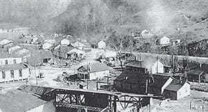 COAL CAMP — This is an air view of the Marlowe Coal Camp.