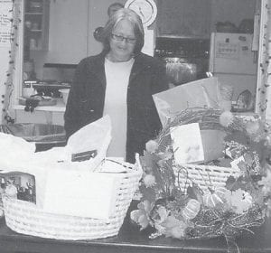 RETIRED — Debbie Ann Adams recently retired from her job as the cook at the Ermine Senior Citizens Center. The seniors at the center presented her with two large baskets of gifts.