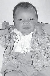 AUGUST BABY — Brandon Lee Houston was born August 20 to Veronica Lynn Gibson Houston and Kevin Lee Houston. His grandparents are George and Billie Gibson of Jeremiah, Brenda Eldridge of Kona, and Emmett Gibson of Whitesburg.