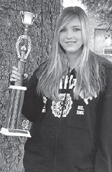 FIRST PLACE — Fourteen-year-old Olivia Brooke Hall, a ninth-grade student at Letcher County Central High School, took first place in three recent local talent shows. She was the winner of the youth divisions at the Jenkins Days Talent Show and the Isom Days Talent Show, and the junior division at the Wise Fall Fling Talent Show. She is the daughter of Stephanie and Keith Raleigh of Jenkins and Mark Hall of Stockbridge, Ga. Her grandparents are Glennis and Starla Holbrook of Payne Gap.