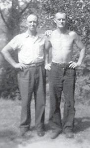 COUSINS — Clyde Hatton and his cousin Edward Taylor of St. Louis, Mo., are pictured in this photograph taken in the early '70s.