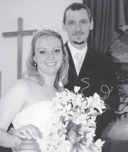 WED — Rocky and Jessica Lee were married Oct. 16 at Millstone Baptist Church. The bridegroom is the son of Elbert and Linda Lee of Whitesburg, the grandson of Mary Bell Lucas of Thornton, and the father of a daughter, Ruthie Lee. The bride is the daughter of Willie and Barbara Hollon of Ermine, and the granddaughter of Wilma Jean Boyd of Whitesburg.