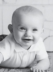 WILLIAM LANDON KELLY is turning eight months old. He is the son of Larry Wayne and Myra Kelly of Cumberland, and has a twoyear old brother, Quinton. He is the grandson of Carma Cornett of Linefork, and Wayne and Tammy Kelly of Cumberland.