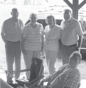 REUNION — The children of Noah and Lizzie Fields Eldridge — Harlin, Lillian, Martha, and Edgar — are pictured at the Eldridge family reunion, which was held in June.