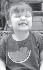 BIRTHDAY — Sierra Brooke Mullins celebrated her third birthday on July 28. She is the daughter of Sarah Maggard of Kona, and Jonathan Mullins of Eolia. She is the granddaughter of Rebecca Maggard of Whitesburg, Larry and Hester Maggard of Kona, and Dale and Jewell Mullins of Eolia. She has two sisters, Alyssa Quillen, 5, and Tyra Mullins, 2.