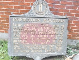 The Kentucky Historical Society has approved the placement of several historical markers in Letcher County over the years. The one pictured here was vandalized and is in storage until it can be repaired. Mountain Comprehensive Health Corporation of Whitesburg is working to get a marker erected to honor the victims of the Scotia mine disasters in 1976.