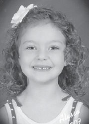 FIVE YEARS OLD — Alyssa Faith Quillen celebrated her fifth birthday August 22. She is the daughter of Sarah Maggard of Kona, and Joshua Quillen of Neon. Her grandparents are Rebecca Maggard of Whitesburg, Larry and Hester Maggard of Kona, and Danny and Vicky Quillen of Neon.