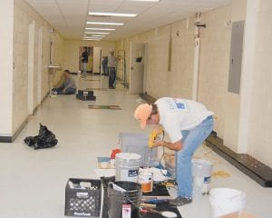 Volunteers from Southside Baptist Church in Spartanburg, S.C., worked at Letcher Elementary School.
