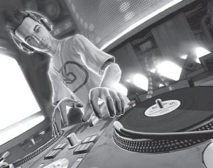 """An animated version of the late DJ-AM is shown in the video game """"DJ Hero."""" (AP Photo/Activision)"""