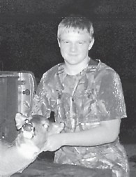 YOUNG HUNTER — Fourteen year-old Drew Wright killed his first deer at Richmond while hunting with his uncle Roy Switzer. He is the son of William Wade and Elizabeth Wright. He is the grandson of Jeanette Wright of Thornton.
