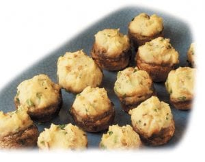 Four-Cheese Potato-Stuffed Mushrooms