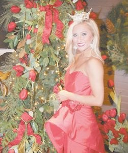 BRINGING CHRISTMAS CHEER — Miss Kentucky Mallory Ervin is going to be the grand marshal of the Whitesburg Christmas parade on Dec. 11.