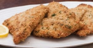 """""""Stuffing"""" Crusted Turkey Cutlets"""