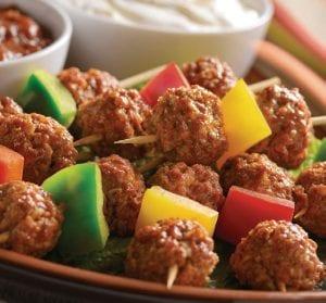 Mexi-Meatball Kabobs