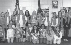 COMMUNITY SERVICE — Girl Scout Troop 301 donated more than 300 canned food items to the Letcher County Food Pantry. Pictured above are Girl Scout and Brownie members (left to right, back row) Kaitlyn Davis, Sadie Bates, Courtney Whitaker, Kami Adams, Emily Baker, Morgan Blair, Sidney Mullins, Emily Stidham, Hannah Wampler, Kaitlyn Fields, Abigail Barker, (front row) Kaylee Whitaker, Sarah Cates, Chelsea Owsley, Logan Sexton, Hannah Sexton, Chloe Sturgill, Marlee Baker, Dayja Carter, Abby Bentley, and Jessica Boggs. Pictured below are Daisies and Junior Brownies (back row, left to right) Kellie Griffith, Kyleigh Banks, Lindsey King, Shayla Hall, Pamela Collins, (front row) Josie Bates, Ashley Vanover, Kaylee Whitaker, Emily Caudill, and Mackenzie Stidham.